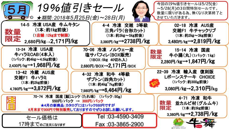 2018年5月19%セール (2)